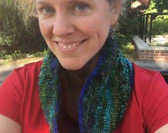 Knit cowl pattern - Anniversary hand spun - cowl pattern - instant download