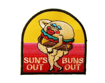 Food Embroidered Applique Iron on Patch 7.1 cm. x 7.1 cm.