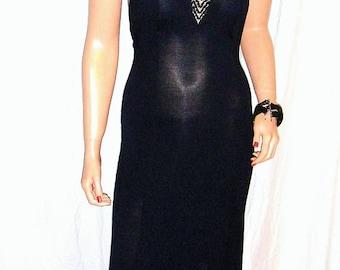 Tobi Black Cut Out Halter Maxi Dress S