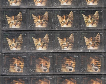 26 KITTEN & PUPPY Used and Cancelled 37c U.S. Postage Stamps (13 of each)