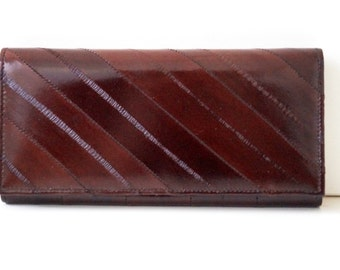 "Women's wallet, womens purse, leather wallet ""Lara"" in darkbrown, genuine leather, portemonnaie, handmade"