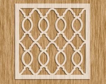 "Moroccan Design Pattern Stencil MINI SERIES - Sku PM0105M (5.5"" x 5.5"")"