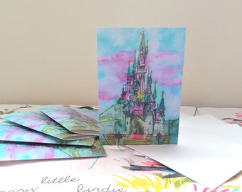Sleeping Beauty's Castle Notecards (5 Pack)