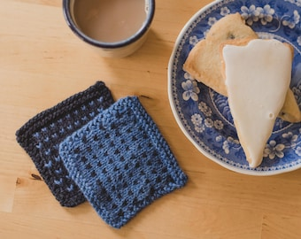 Simple Colorwork Coasters (knitting pattern)