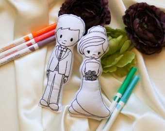 Bride and Groom Doll Wedding Activity for Kids Gifts for Wedding Party