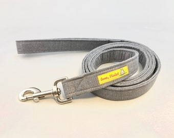 Gray Dog Leash · Large Dog Leash · Dark Gray Dog Leash · Solid Color Leash · Wedding Pet Apparel · Double Sided Leash · Wedding Dog Leash