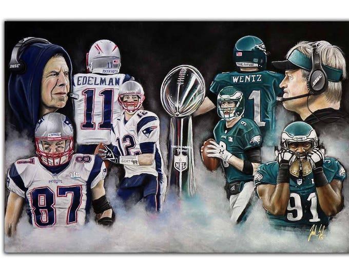 Philadelphia Eagles - New England Patriots - Superbowl LII - Superbowl - Nick Foles - Carson Wentz - Tom Brady - Rob Gronkowski - Man Cave