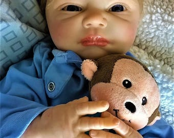 100.00 OFF for Father's Day Reborn Baby Nevaeh by Denise Pratt by Reborn Artist Jeanne Marie