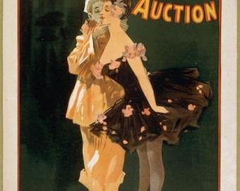 Theatre poster The Devil's Auction reproduction