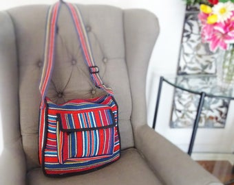 Himalayan colourful cotton bag. Hand bag, messenger bag, across-body bag, shoulder bag.