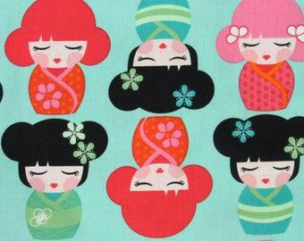 Asian Princess Sakura Dolls Quilt Kit-Fast-Easy-Fun-Beautiful Colors for Darling Little Princess Decor