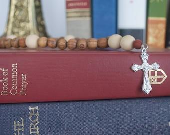 NEW Anglican Rosary | Prayer Beads | Bayong Wood and Whitewood