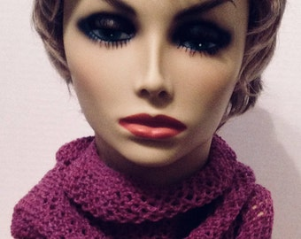 Hand Knit Cashmere Cowl/Infinity Scarf