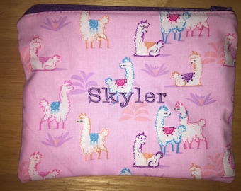 Custom Embroidered Zipper Pouch