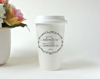 Beauty and the Beast. Belle. Gift for Her. Travel Mug. Ceramic Tumbler. Coffee Mug. Tea Mug. Custom Travel Mug