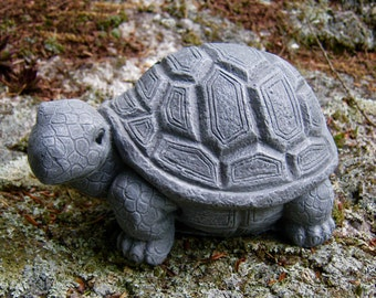 Turtle Statue, Concrete Cement Turtles, Painted Turtle, Cement Garden And Yard Turtles