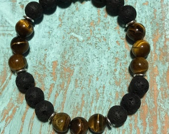 Tiger Beach-beaded gemstone bracelet