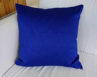 Royal blue luxury cushion covers 18×18 throw pillow ...