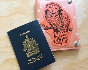 Majestic Owl vegan leather travel wallet