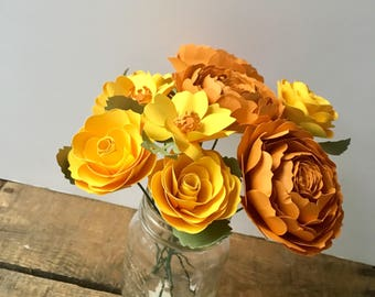 Yellow rose bouquet | Etsy
