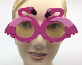 Flamingo Foam Sunglasses for Craft or Party Set of 12