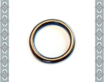 6 pieces o-ring antique brass O-rings antique brass PLATED