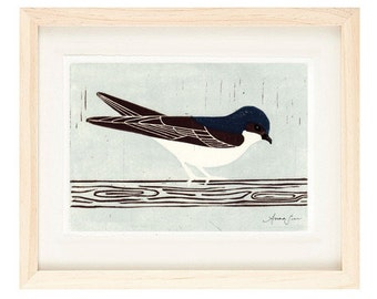 HOUSE MARTIN Linocut Reproduction Art Print: 4 x 6, 5 x 7