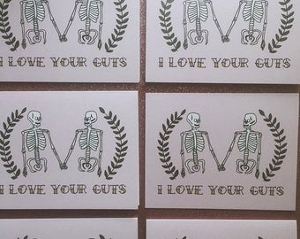 I Love Your Guts Greeting Card