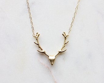 Deer Elk Necklace | Gold Fill or Sterling Silver