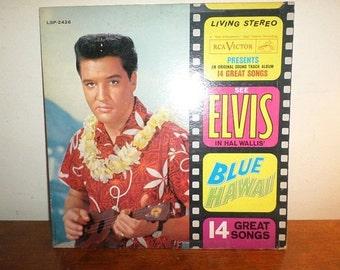 Vintage 1962 LP Record Elvis In Hal Wallis Blue Hawaii Original Soundtrack Very Good Condition 12057