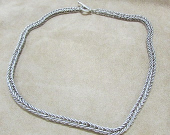 Sterling Silver Chain with Toggle Clasp