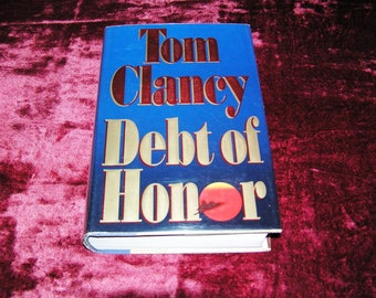 Lot of 7 Tom Clancy Novels Hardcover Books 1980's  and 1990'S  All Excellent Condition Instant Collection All Excellent Condition