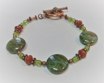 Copper Ore Jasper Bracelet