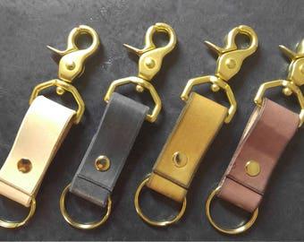 Brass Trigger Snap Key Fob