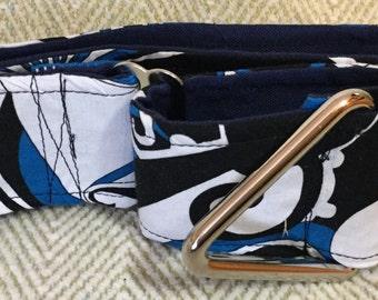 2 Inch Martingale, Dog Collar, Sighthound, Greyhound, Blue Wave