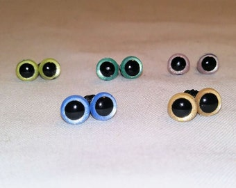 6 mm Safety Eyes, Animal Eyes, Craft Eyes, 5 pair pearl
