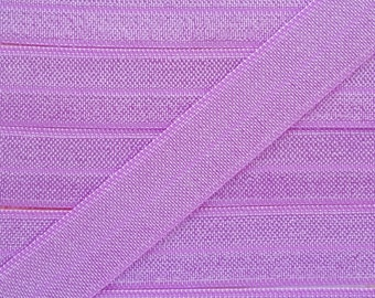 5/8 LILAC Fold Over Elastic 5 or 10 Yards