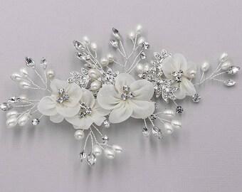 Ivory wedding hair flower clip, wedding hair accessories, wedding flower clip, hair flower comb, ivory hair flower clip, Reese Flower Clip