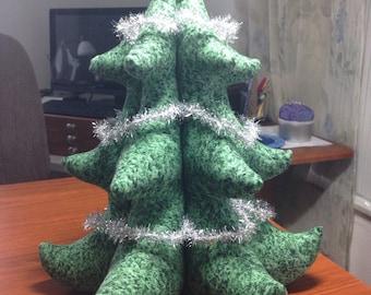 Tinsel Tree 3D Stuffed Christmas Tree