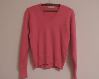 50's JANTZEN Pull Over Sweater Kharafleece Mid Century V Neck Sweater Jantzen Exclusive Kharafleece