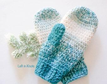Warm Wool-ish Mittens PRINTABLE CROCHET PATTERN (pdf)