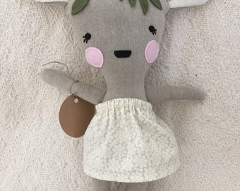 Bambi deer Fawn deer doll stuffed animal toy baby and child