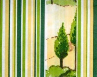 PAPER landscape with trees and stripes #DI030 TOWEL
