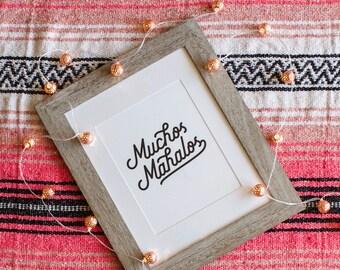Muchos Mahalos Printable | Digital Download, Inspirational Quote, Wall Art, Home Decor, Office Decor, Typography, Hawaii Art