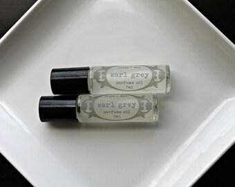 Earl Grey Vegan Perfume Oil, Roll on Perfume, Natural Perfume
