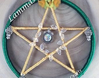 Pentagram, Lammas, Altar tools, Wall hanging, Sabbat, Pagan tools, Pagan gift, August Eve, Pagan, Witchcraft, Wiccan items.