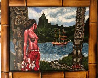 Forbidden Island Original Acrylic Painting