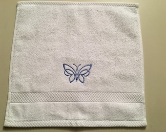 Washcloth With a Butterfly