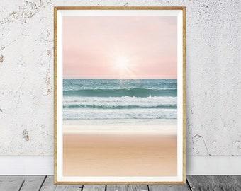 Beach Decor, Printable Beach Art, Beach Wall Art, Coastal Decor, Beach Wall Decor, Coastal Decor Beach, Beach Photography, Ocean Water, 104v