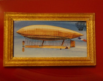 Dollhouse Framed Stamp; Steampunk; Airship